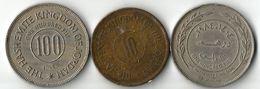Lot 3 Pièces  De Monnaie  10- Et 100 Fils - Jordan