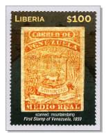 Liberia 2015 (B19) Stamp On Stamp First Stamp Of Venezuela MNH ** - Liberia