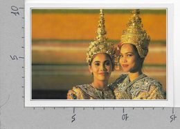 CARTOLINA NV DE AGOSTINI - THAILANDIA - Bangkok - Danzatrici - Vedute Dal Mondo - 10 X 15 - Tailandia