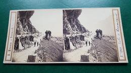 PHOTO STEREO - A. BRAUN -  N°1921 - VALLEE DE COURMAYEUR - Stereoscopic