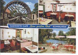 Schwalheim - Bei Bad Nauheim - Gaststätte Zum Großen Rad - Mehrbild (4) . -  **AK-91761** - Bad Nauheim