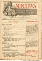 Rivista Antica MINERVA (Rivista Delle Riviste) Anno XIV, 13 Dicembre 1903, Vol. XXIV, N.1, Direttore FEDERICO GARLANDA - Vecchi Documenti