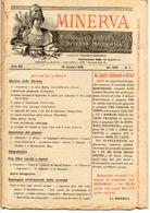 Rivista Antica MINERVA (Rivista Delle Riviste) Anno XIV, 20 Dicembre 1903, Vol. XXIV, N. 2, Direttore FEDERICO GARLANDA - Vieux Papiers