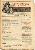 Rivista Antica MINERVA (Rivista Delle Riviste) Anno XIII, 9 Agosto 1903, Vol. XXIII, N.35, Direttore FEDERICO GARLANDA - Non Classificati