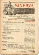 Rivista Antica MINERVA (Rivista Delle Riviste) Anno XIII, 5 Luglio 1903, Vol. XXIII, N. 30, Direttore FEDERICO GARLANDA - Vieux Papiers