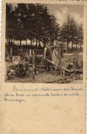 BELGIQUE - LIEGE - SPRIMONT - BANNEUX -  Construction De La Chapelle. Première Brouette  Avec Mme Béco Et Mariette . - Sprimont