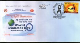 India 2017 World Diabetes Day Health Disease Medical Aids Special Cover # 6724 - Disease