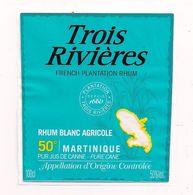 Etiquette   RHUM Trois Rivières, Blanc  Agricole 50 - MARTINIQUE - Décollée - - Rhum