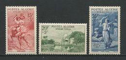 ALGERIE 1957 N° 346/348 ** Neufs MNH Superbes Cote 29.40 € Tableaux Musée Beaux Arts Alger Animaux Cavalier Chevaux - Nuevos