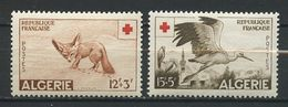 ALGERIE 1957 N° 343/344 ** Neufs MNH Superbes Cote 20,40 € Faune  Oiseaux Birds Fauna Animaux Animals - Nuevos