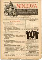 Rivista Antica MINERVA (Rivista Delle Riviste) Anno XIII, 1 Novembre 1903 Vol. XXIII, N. 47, Direttore FEDERICO GARLANDA - Vecchi Documenti