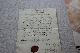 ATTESTATPOUR MR BURETT EN ITALIEN AVEC CACHET - Documents