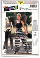 Patron Burda Super Easy N° 2989 - Hose, Pantalon / Pants - Patterns