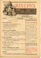 Rivista Antica MINERVA (Rivista Delle Riviste) Anno XIV, 27 Dicembre 1903 Vol. XXIV, N. 3, Direttore FEDERICO GARLANDA - Vecchi Documenti