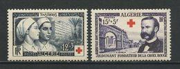 ALGERIE 1954 N° 316/317 ** Neufs  MNH Superbes Cote 16,80 € Oeuvres Croix Rouge Red Cross Verdun Djemila Dunant - Nuevos