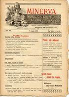 Rivista Antica MINERVA (Rivista Delle Riviste) Anno XIII, 31 Maggio 1903 Vol. XXIII, N. 25, Direttore FEDERICO GARLANDA - Vecchi Documenti
