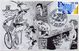 JEANJEAN Guy -  Journée Du Timbre - MONTPELLIER (Cachet)   (102292) - Künstlerkarten