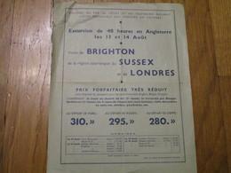 Chemins De Fer De L'Etat Et Du Southern Railway - Excursion De 48 Heures En Angleterre Les 13 Et 14 Aout - Europe