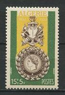 ALGERIE 1952 N° 296 ** Neuf  MNH Superbe Cote 3.90 € Centenaire Médaille Militaire Military - Ongebruikt