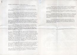 Rapport Du Responsable De La Nappe Phréatique Du Syndicat Des Exploitants Agricole De CHATEURENARD (13)  (102297) - Livres, BD, Revues