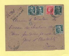 Vendin Le Vieil - Pas De Calais - Recommande Provisoire - 1946 - Postmark Collection (Covers)