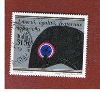 ITALIA REPUBBLICA  - SASS. 1877    -      1989    RIVOLUZIONEFRANCESE-      USATO - 6. 1946-.. Repubblica