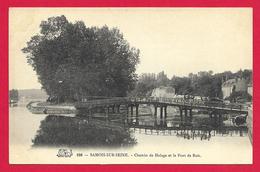 CPA Samois Sur Seine - Chemin De Halage Et Le Pont De Bois - Samois