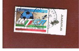 ITALIA REPUBBLICA  - SASS. 1875    -      1989    INTER CAMPIONE CON APPENDICE JUVENTUS -      USATO - 6. 1946-.. Repubblica