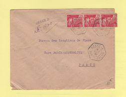 Arras A - Pas De Calais - Recommande Provisoire - 1946 - Marianne De Gandon - 1921-1960: Modern Tijdperk