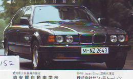 Telefonkarte Japan  * Télécarte JAPON * VOITURE * BMW (152) Phonecard JAPAN *  AUTO * CAR *  GERMANY * DEUTSCHLAND - Auto's