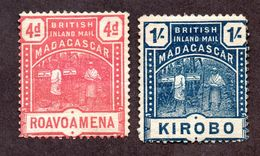 Madagascar Emissions Consulaires N°56,58 N* TB Cote 80 Euros !!!RARE - Madagascar (1889-1960)