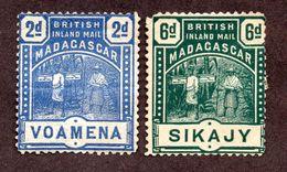 Madagascar Emissions Consulaires N°55,57 N* B Cote 65 Euros !!!RARE - Madagascar (1889-1960)