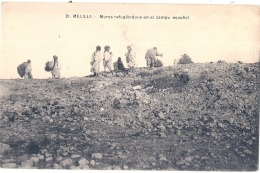 ***  MAROC  *** MELILLA  Muras Refugiendos En El Campo Espagnol - TB écrite - Marruecos