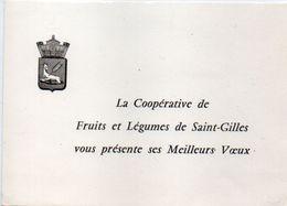 La Coopérative DeFruits Et Légumes De SAINT GILLES (Gard) Vous Présente Ses Meilleurs Voeux  (102310) - Anuncios