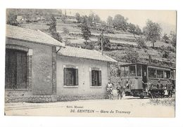SENTEIN (09) Gare Du Tramway électrique Tram Beau Plan Animation - Otros Municipios