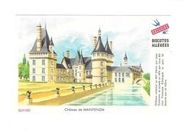 Buvard  Ville, Marque  Alimentaire  Biscottes  GREGOIRE  Château  De  MAINTENON  ( 283 ) - Buvards, Protège-cahiers Illustrés