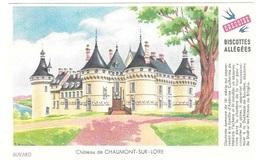 Buvard  Ville, Marque  Alimentaire  Biscottes  GREGOIRE  Château  De  CHAUMONT - SUR - LOIRE  ( 41 ) - Buvards, Protège-cahiers Illustrés