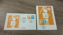 FRANCE CEF Enveloppe + Carte Maximum 1er Jour MARIANNE DU BICENTENAIRE 1990 - Collection Timbre Poste - FDC