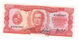 Uruguay 100 Pesos 1967 UNC .C. - Uruguay