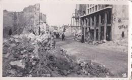 Photo Ancienne  Dunkerque  Guerre 1939 1945   Rue Du Jeu De Mail  PRIX FIXE - Guerre, Militaire