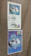 FRANCE CEF Enveloppe + Carte Maximum 1er Jour MAX HYMANS 1990 - Collection Timbre Poste - 1990-1999