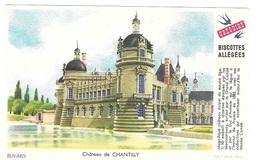 Buvard  Ville, Marque  Alimentaire  Biscottes  GREGOIRE  Château  De  CHANTILLY  ( 60 ) - Buvards, Protège-cahiers Illustrés