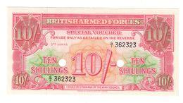 Great Britain - Military 10 Shillings 3th Series 1956  UNC .C. - Emissioni Militari