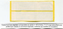 FRANCE CARNET TF 3Aa (numérotation Yvert Et Tellier) - Cours D'Instruction