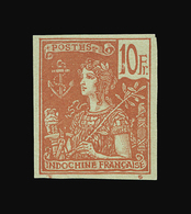 INDOCHINE N° 39a/40a Toujours Sans Gomme. Grande Fraîcheur. Aucune Trace De Charnière. RARE. Signé Champion. TTB - Indochine (1889-1945)