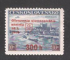 Czechoslovakia 1939,Opening Of Slovakian Parliament,Sc 254A,VF MNH**(G-3) - Slovakia