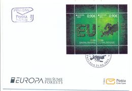 CG 2011- EUROPA CEPT, MONTENEGRO CRNA GORA, FDC - Montenegro