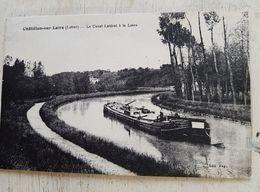 45 - CPA Animée, Péniche CHATILLON-SUR-LOIRE (Loiret) - Le Canal Latéral à La Loire - Chatillon Sur Loire