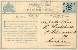 Verhuiskaart G2 Van 'sGravenhage Naar Amsterdam - Postal Stationery