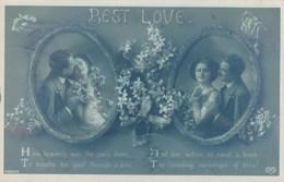 Best Love, Postcard With Love Poems (pk43088) - Saint-Valentin